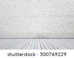 white wood floor and white... | Shutterstock . vector #500769229