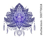 hand drawn ornate vector... | Shutterstock .eps vector #500770018