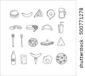 vector icons for fast food on... | Shutterstock .eps vector #500771278
