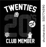 twenties 20's club member... | Shutterstock .eps vector #500774590