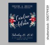 wedding invitation card... | Shutterstock .eps vector #500779939