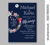 wedding invitation card... | Shutterstock .eps vector #500780050
