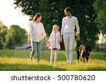 pregnant woman with her... | Shutterstock . vector #500780620