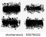 grunge banners. vector. | Shutterstock .eps vector #50078332