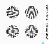 fingerprint icons. vector... | Shutterstock .eps vector #500783356