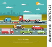 speed highway design concept... | Shutterstock .eps vector #500787628