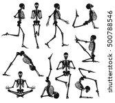 human skeletons black... | Shutterstock .eps vector #500788546
