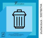 trashcan icon | Shutterstock .eps vector #500788744