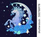 kawaii night sky composition... | Shutterstock .eps vector #500788978