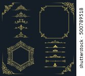 big set of vintage elements.... | Shutterstock .eps vector #500789518