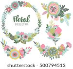 vector graphic set with... | Shutterstock .eps vector #500794513