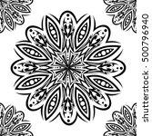 tribal tattoo flower texture... | Shutterstock .eps vector #500796940
