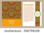 set of business cards. vintage... | Shutterstock .eps vector #500798158