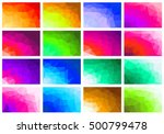set polygon abstract background ... | Shutterstock . vector #500799478