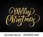 merry christmas card with... | Shutterstock .eps vector #500800168