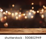 festive background with light... | Shutterstock . vector #500802949