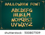 spooky and magical alphabet set.... | Shutterstock .eps vector #500807509