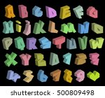 3d graffiti color fonts... | Shutterstock .eps vector #500809498