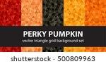 "triangle pattern set ""perky... | Shutterstock .eps vector #500809963"