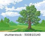 landscape  summer green forest  ... | Shutterstock .eps vector #500810140