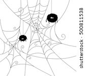 Halloween Spider Web With Cute...