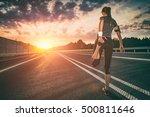 Stretching Run Runner Road...