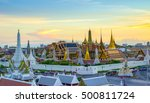 grand palace and wat phra keaw... | Shutterstock . vector #500811724