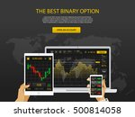trade market. binary option....