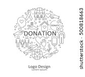 big set of symbols of charity ...   Shutterstock .eps vector #500818663