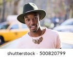 portrait of a young afro... | Shutterstock . vector #500820799