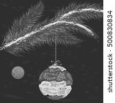 a monochrome christmas tree... | Shutterstock .eps vector #500830834
