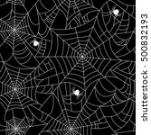 black spider web seamless... | Shutterstock .eps vector #500832193