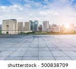 empty floor with modern skyline ... | Shutterstock . vector #500838709