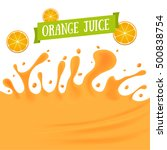 orange juice background with... | Shutterstock . vector #500838754