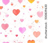 seamless pattern with... | Shutterstock . vector #500839630
