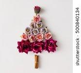 Christmas Tree Made Of Flowers...