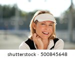 Blond Woman Tennis Player