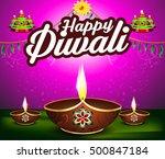 abstract happy diwali... | Shutterstock .eps vector #500847184