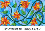 illustration in stained glass... | Shutterstock .eps vector #500851750