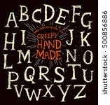 creepy old halloween hand made... | Shutterstock .eps vector #500856886
