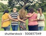 women female feminism lady... | Shutterstock . vector #500857549