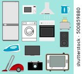 household appliances.... | Shutterstock .eps vector #500859880