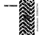 print textured track.vector... | Shutterstock .eps vector #500863744