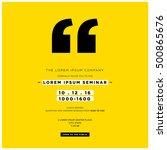business seminar invitation... | Shutterstock .eps vector #500865676