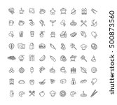 outline web icons   fruits ...   Shutterstock .eps vector #500873560