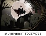 headless horseman. the hessian... | Shutterstock .eps vector #500874736