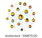social network concept human... | Shutterstock .eps vector #500875120