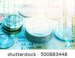 double exposure of coin and... | Shutterstock . vector #500883448