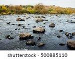 Clear Blue River  Lush Green...