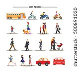 urban people icons isolation... | Shutterstock .eps vector #500891020